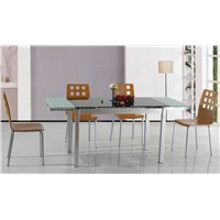 EXTENSION GLASS TOP TABLE