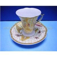 70cc Porcelain Coffee Cup and Saucer