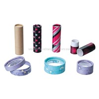 Paper tubes and leather cases for cosmetics