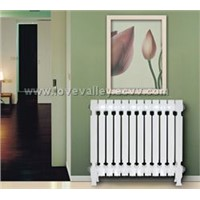cast iron decoration two pole wing radiator