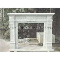 Fireplace,Stone Carving, Maple Red, Granite, G687