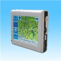 GPS navigator with built-in antenna and MP4 player