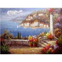 High Reproduction Mediterranean Oil Painting