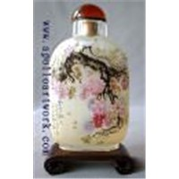 Flower snuff bottle