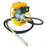 Gasoline engine with vibrator shaft