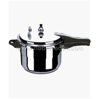 polished alminum pressure cooker