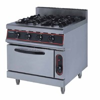 Gas Range with 4- Burner &Electric Oven