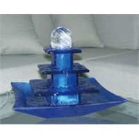 glass indoor tabletop water fountain