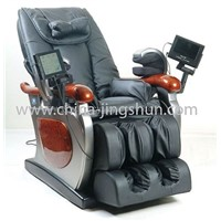 Multi-functional massage chair with DVD