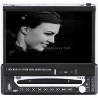 One DIN in-Dash Motorized Car DVD Player with 7-inch TFT-LCD Monitor