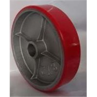 polyurethane tyred cast iron centre wheel