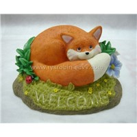 Cat Polyresin solar light craft