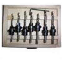 22 piece countersink drill bit set