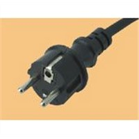PVC cable with plug