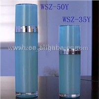 round acrylic airless pump bottle and lotion bottle