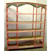 Painted book shelf- large