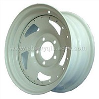 Direction tailer steel wheel