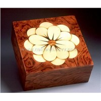 Marquetry wooden box