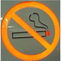 Acrylic Ban Smoking Signs