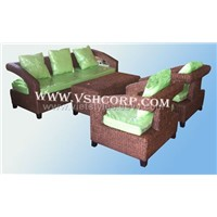 Set of water hyacinth sofa