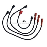 Ignition cable set, spark plug cable