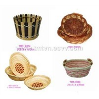 Sell bamboo, fern, rattan, segrass basket
