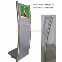 "17"" Lcd Media Players for Advertising with 1.48m Hight Ground Stand"