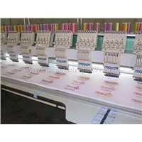 multihead flat embroidery machine