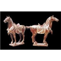 Wood Carving -Horse (YHMD-01)