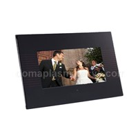 "7"" Digital Photo Frame w/ Designer Black Glass Frame"