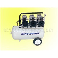 Oilless air compressor for dentist