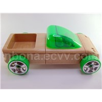 Automoblox T9 Pickup Truck Wooden Car - Green