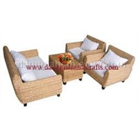 Water hyacinth sofa set