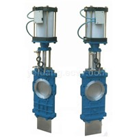 Carbon STEEL HALF PARTS KNIFE GATE VALVE, CLASS150, FLANGED, HANDWHEE