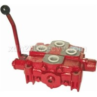 Multiple directional valve for hydraulic power tong
