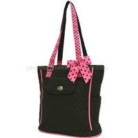 QUILTED MONOGRAMMABLE TALL TOTE HANDBAG