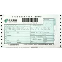 China Post Domestic Common Parcel Detail Bill
