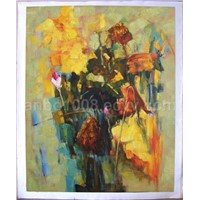 Oil Painting - Abstract Flower