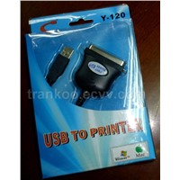 USB To DB25 Printer Cable