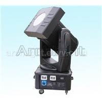 Changing color moving head searchlight