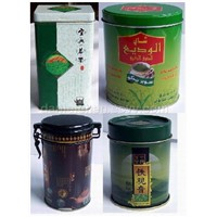 tea tin, tea canister, tin tea box, tin can, tin box, tin canister