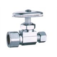 Brass Angle Valve With Chrome Plated (J7011)