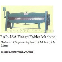 Flange folding machine