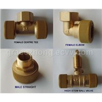 Push-Fit brass fitting