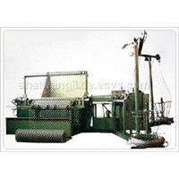 Chain link fence mesh machine