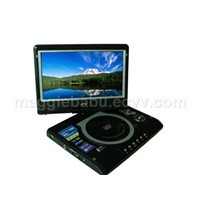 9 inch super thin portable dvd with tv