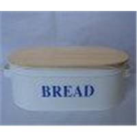 Bread Box with Wooden Lid (SUN-032)