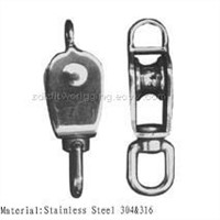 single swivel pulley with ring