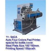 pad printing machine TY-S4CA for bottle cover