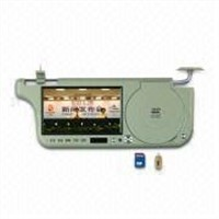 "7"" Car Sun Visor LCD Monitor with DVD Player(Built-in USB,SD slot, TV)"